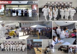 Curso de Enfermagem das FIJ participa de ação de vacinação da PM contra a COVID-19